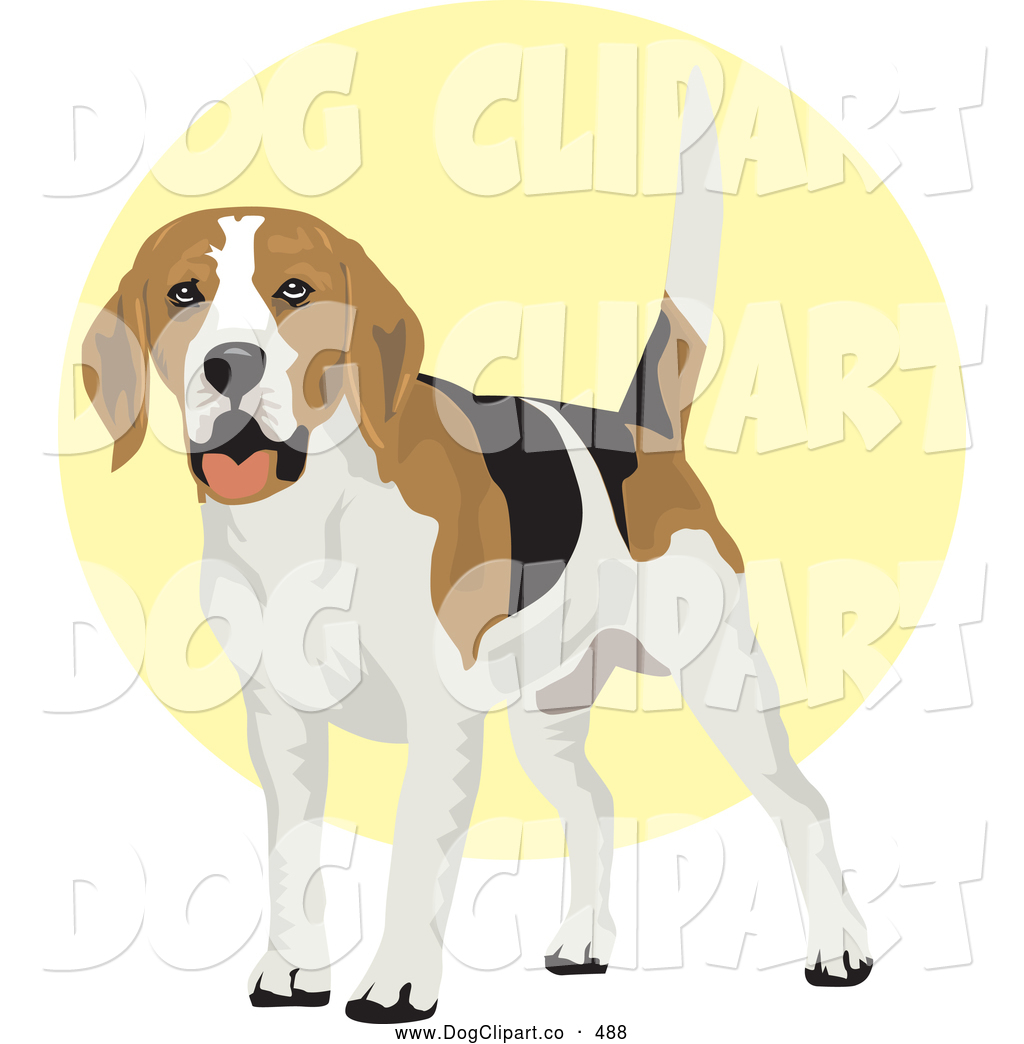 Clip Art Friendly Tan And White Pit Bull Dog With Cropped Ears
