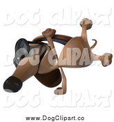 December 13th, 2014: Clip Art of a 3d Cartwheeling Dachshund Dog Wearing Sunglasses by Julos