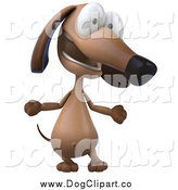 Clip Art of a 3d Wiener Dog Talking by Julos