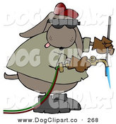 September 24th, 2012: Clip Art of a Brown Industrial Dog Welding Something by Djart