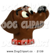 Clip Art of a Curious Chocolate Lab Smelling the AirCurious Chocolate Lab Smelling the Air by Amy Vangsgard