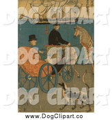 October 25th, 2014: Clip Art of a Dog and a Tourist in a Carriage in Japan by JVPD