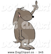Clip Art of a Frustrated Gray Dog Flipping off His Owner After Not Getting His Daily Walk by Djart