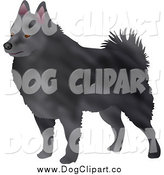 Clip Art of a Gray Schipperke Dog by Prawny