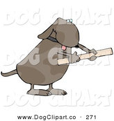 September 18th, 2012: Clip Art of a Handy Dog Using a Ruler to Measure by Djart