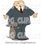 Clip Art of a Humorous Bad Dog Humping a Businessman's Leg by Djart