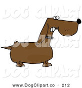 Clip Art of a Mean Aggressive Wiener Dog Growling at an Intruder by Djart