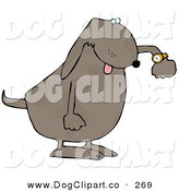September 22nd, 2012: Clip Art of a Rushed Dog Checking the Time on His Wrist Watch by Djart