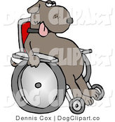 Clip Art of a Wheelchaired Dog by Djart