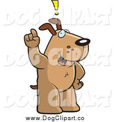 Vector Cartoon Clip Art of a Dog Exclaiming and Holding up a Finger by Cory Thoman