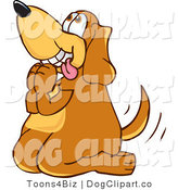 July 21st, 2012: Vector Cartoon Clip Art of a Hungry Brown Dog Mascot Cartoon Character Begging for a Walk or Food by Toons4Biz