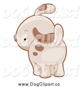 Vector Cartoon Clip Art of a Puppy Dog Looking Back by BNP Design Studio