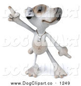 Vector Clip Art of a 3d Jack Russell Terrier Dog Dancing by Julos