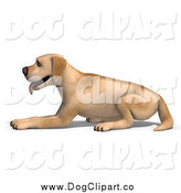 Vector Clip Art of a 3d Yellow Lab Dog Resting by Ralf61