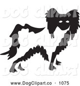 Vector Clip Art of a Black and White Papillon Dog by Prawny