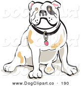 Vector Clip Art of a Bulldog Sitting on Its Rump by Andy Nortnik