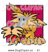 Vector Clip Art of a Curious Brown Dog Looking to the Left by Andy Nortnik