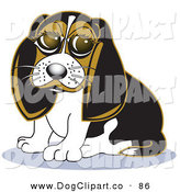 Vector Clip Art of a Cute Little Beagle Dog with Big Puppy Eyes on White by Andy Nortnik