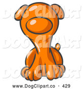 Vector Clip Art of a Cute Orange Plain Puppy Dog Looking Curiously at the Viewer by Leo Blanchette