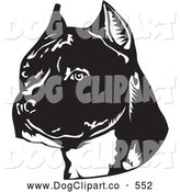 Vector Clip Art of a Friendly American Staffordshire Terrier Dog by David Rey