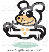 Vector Clip Art of a Gleeful Dog Running to the Right over White by Andy Nortnik
