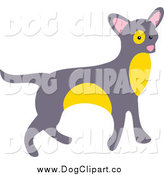 Vector Clip Art of a Gray and Yellow Chihuahua Dog by Prawny