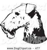 Vector Clip Art of a Happy Airedale Terrier Dog by David Rey