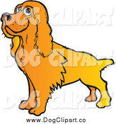 Vector Clip Art of a Happy Cocker Spaniel Dog by Snowy