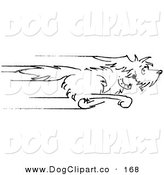 Vector Clip Art of a Happy Pet Dog Running As Fast As He Can to the Right by Andy Nortnik