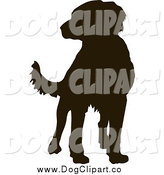 Vector Clip Art of a Labrador Dog Silhouette by Pauloribau