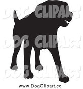 Vector Clip Art of a Silhouetted Dog in Black by KJ Pargeter