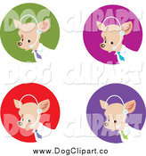 Vector Clip Art of Customer Service Business Dogs by Monica
