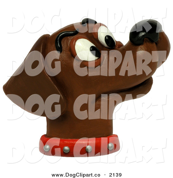 Clip Art of a Curious Chocolate Lab Smelling the AirCurious Chocolate Lab Smelling the Air