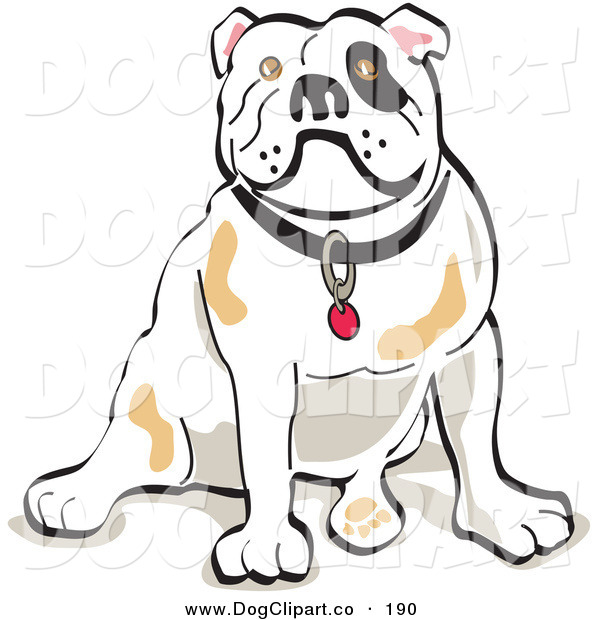 Vector Clip Art of a Bulldog Sitting on Its Rump