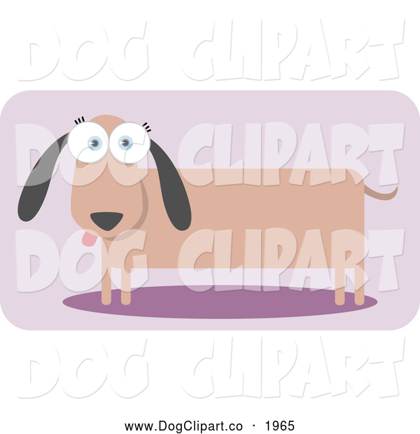 Vector Clip Art of a Square Dachshund Dog