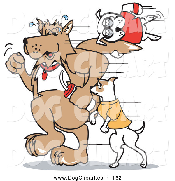 Vector Clip Art of Dogs out for a Walk