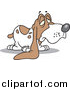 Vector Cartoon Clip Art of a Cartoon Droopy Long Eared Basset Hound by Toonaday