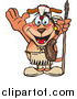 Vector Clip Art of a Thanksgiving Native American Dog Holding a Spear by Dennis Holmes Designs